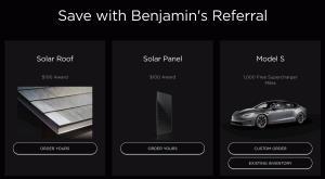 Choose Tesla Product for Tesla Referral Discount
